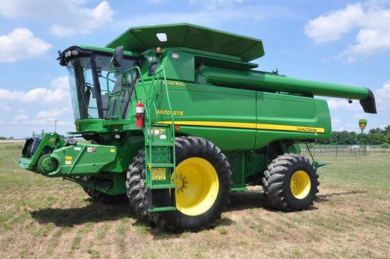 2010 JD 9670STS 4wd combine