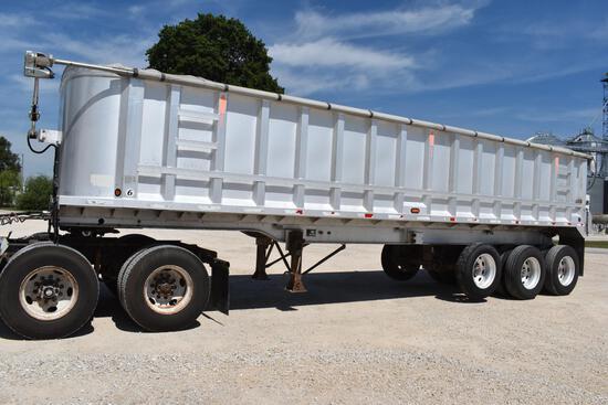 2005 Schien 34' aluminum dump trailer