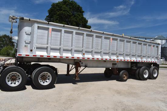 2000 Ravens 34' aluminum dump trailer