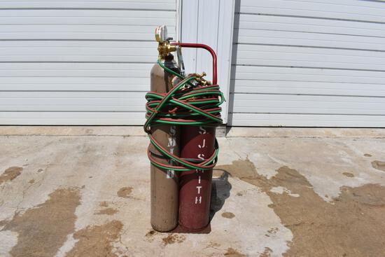 Torch kit with valves & handle