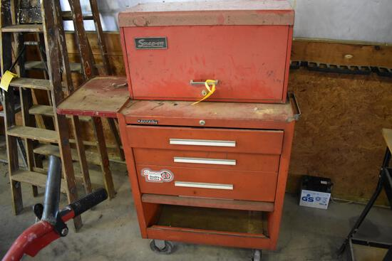 Kennedy rolling tool chest w/ Snap On stackable tool chest