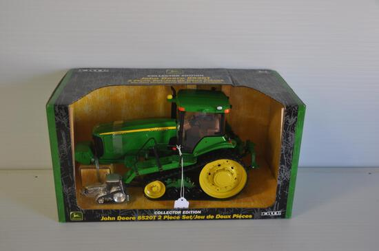 Ertl 1/16 & 1/64 Scale John Deere 8520T Toy Tractors, Collector Edition