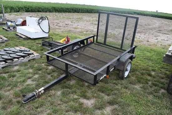 6' Carry-On bumper hitch trailer, 6' x 4', fold down ramp