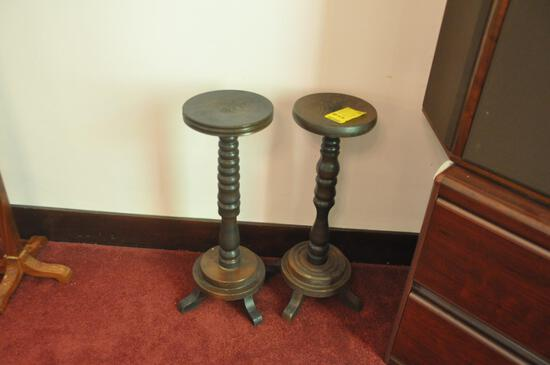 {2} Wooden Plant Stands