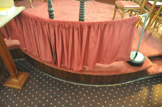 Metal hand railing with with fabric