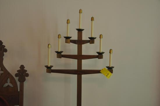 """76"""" tall wood candle holders"""