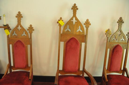 """72"""" wood religious chair"""