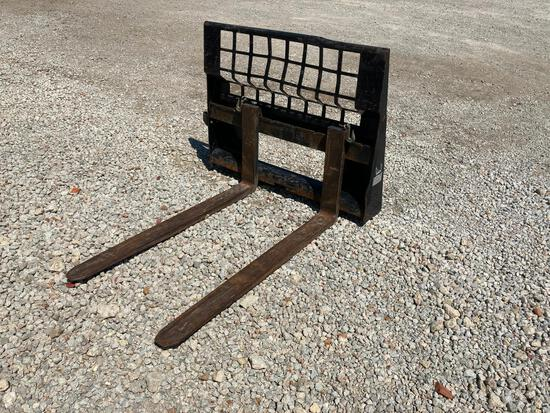 "Cat 48"" pallet forks for skidsteer"