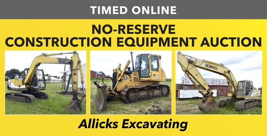 No-Reserve Construction Equipment Auction