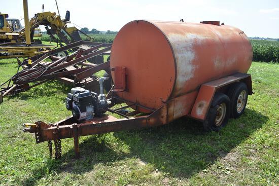 1,500 gal. steel liquid tender trailer