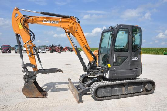 2018 Case CX60C mini excavator