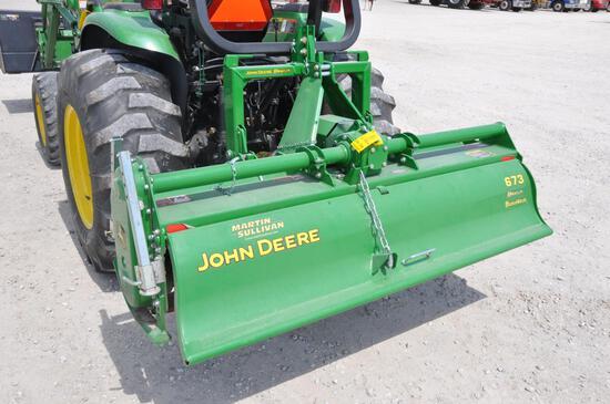 """John Deere 673 72"""" 3pt. Tiller"""