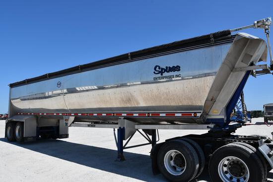 2014 Mac 40' aluminum frameless dump trailer