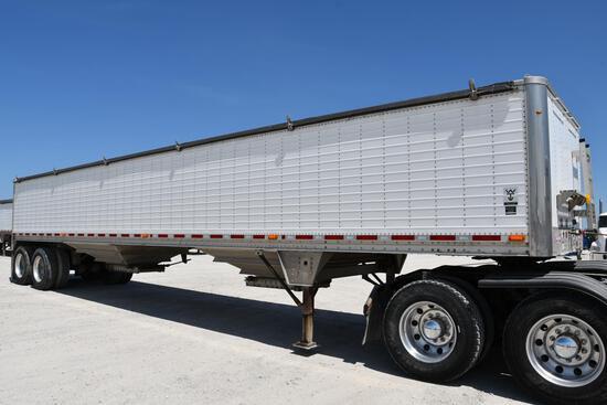 2011 Wilson 43' aluminum hopper bottom grain trailer