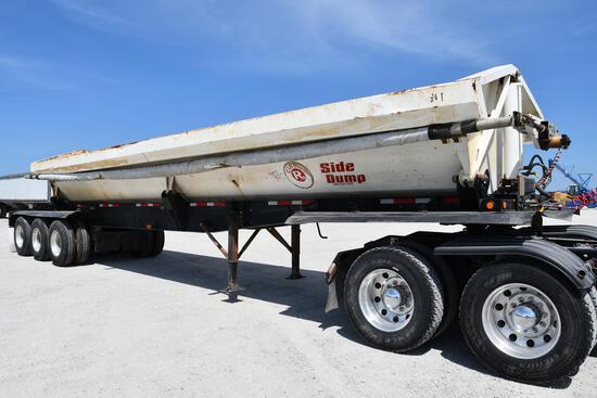2013 Circle R Side Dump dump trailer