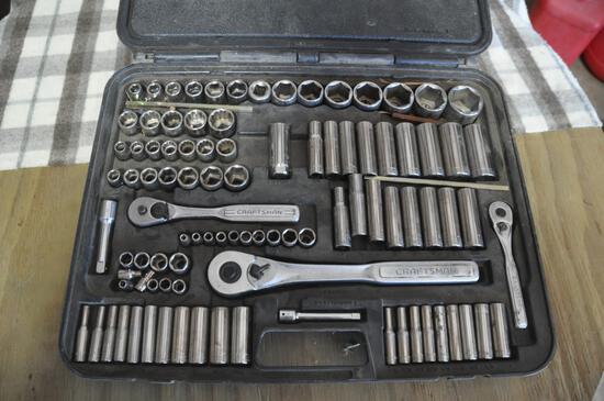 "Craftsman Socket Set, 1/4"", 3/8"" & 1/2"""