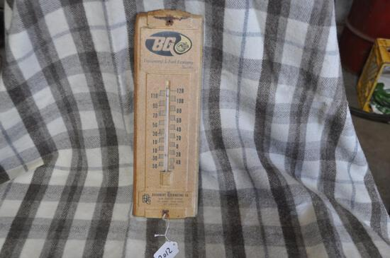 "14"" tall BG metal thermometer"