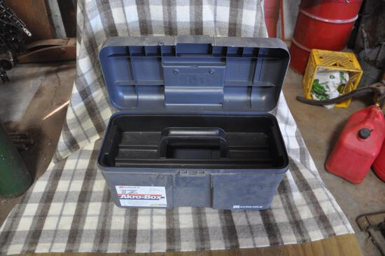 "Plastic 17"" toolbox, no latch"