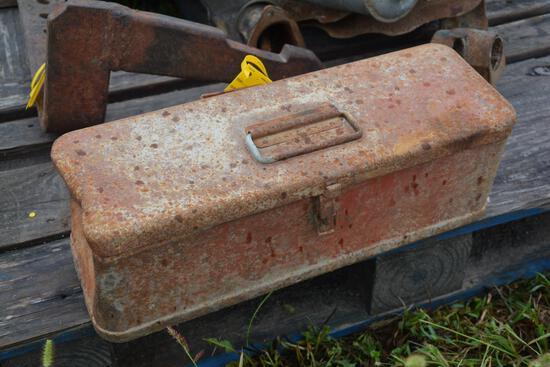 IH tractor tool box