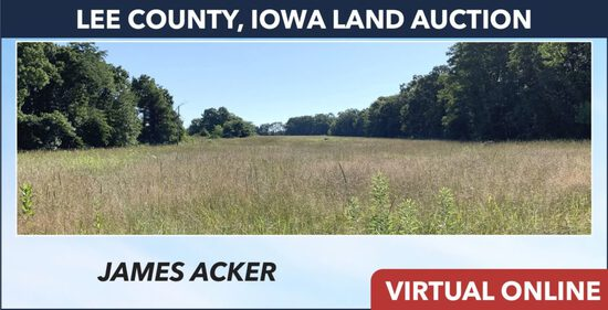 Lee County, IA Land Auction - Acker