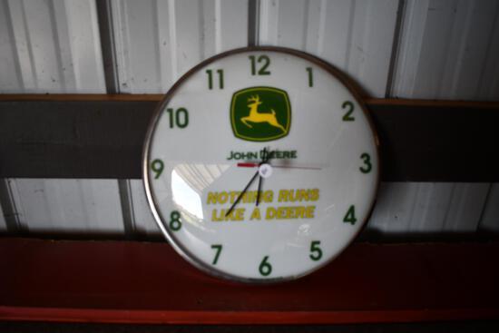 John Deere round wall clock