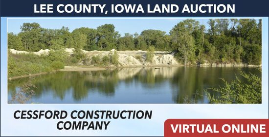 Lee County, IA Land Auction -Cessford Construction