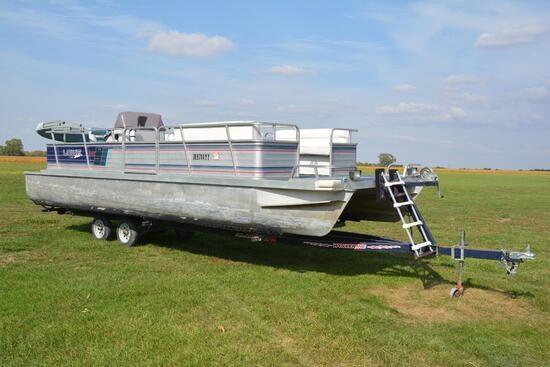 1990 Lowe 242 Pontoon boat