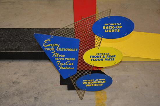 1957 Chevrolet dealership accessory sign