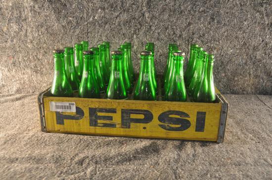 24 Pepsi bottle rack sells with 24 7 UP bottles
