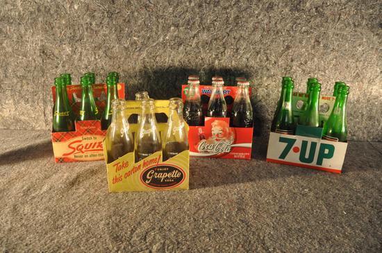 (4) cardboard 6-pack bottle carriers