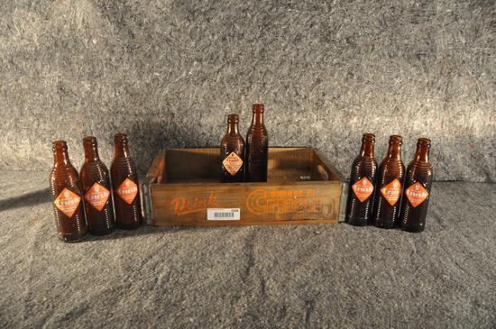 wooden Orange Crush soda crate