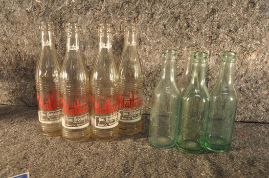 (8) Mathes Co. Burlington Iowa advertising bottles