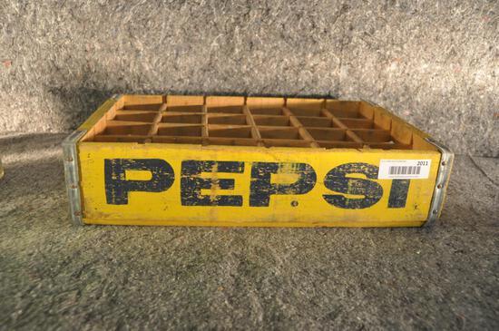 wooden Pepsi-Cola soda crate