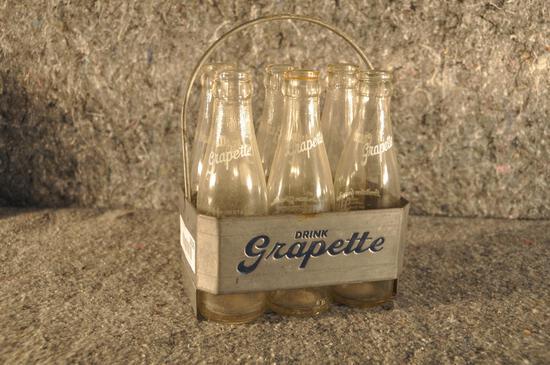 metal 6-pack Grapette bottle carrier