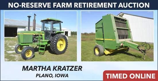 No-Reserve Farm Retirement Auction - Kratzer
