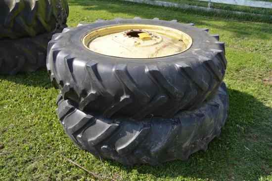 (2) 16.9-38 tires on 9 bolt rims