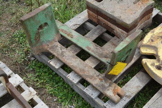 (2) John Deere starter weights