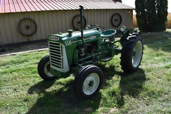 Oliver 550 2wd gas tractor