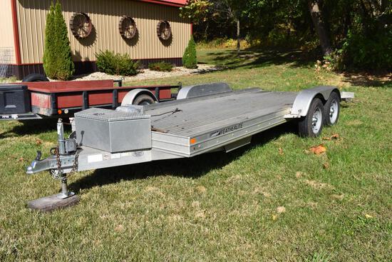 Featherlite 18ft aluminum car trailer