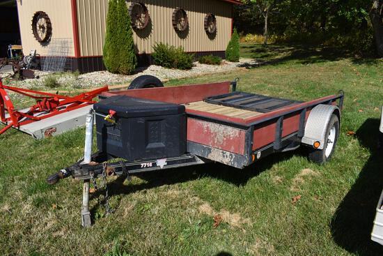 PJ Trailers 7710 7' X 10' single axle utility trailer