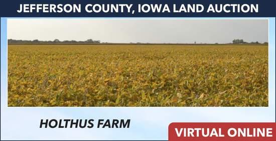 Jefferson County, IA Land Auction - Holthus