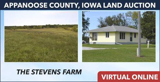 Appanoose County, IA Land Auction - Stevens