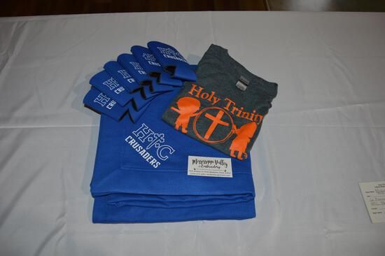 6 HTC Koozies, HTC blanket, HTC t-shirt (small child's) (2796)
