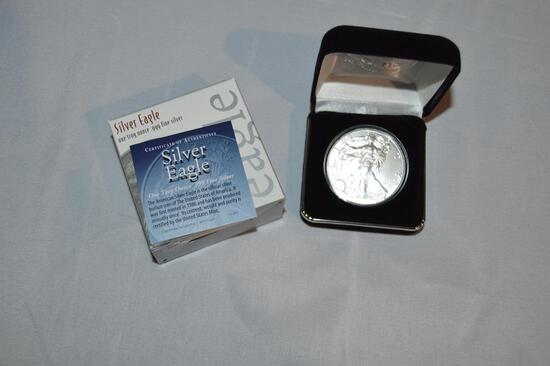 2020 Silver Eagle coin, one troy ounce, .999 fine silver (1429)