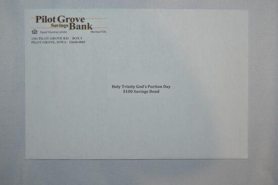 $100 savings bond or $100 cash (1344)