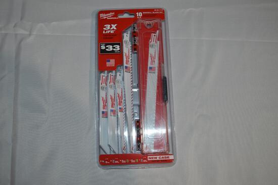 Milwaukee sawzall 10 pc blade set (1370)