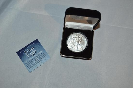 2020 Silver Eagle coin, one troy ounce, .999 fine silver (1428)