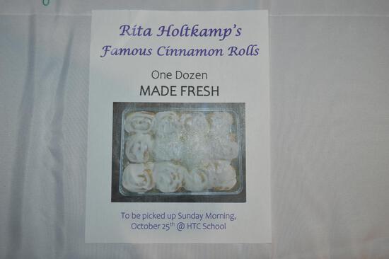 1 dozen cinnamon rolls (2745)
