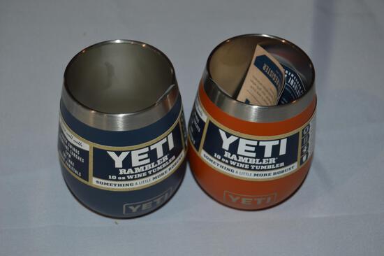 2 Yeti wine tumblers (2725)