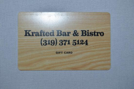 $50 gift card to Krafted Bar & Bistro (1712)